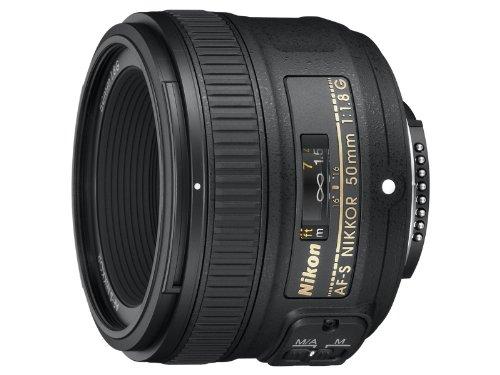 Nikon AF-S FX NIKKOR 50mm f/1.8G Fixed Zoom Lens with Auto Focus for Nikon DSLR Cameras