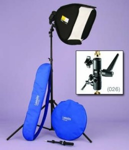 Lastolite LL LS2480M2 30-Inch x 30-Inch Ezybox HotShoe Kit with M2 Bracket (Black)