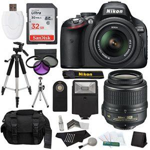 Nikon D5100 DSLR Camera with 18 55mm f35 56 AF S Nikkor Zoom Lens 32 GB SanDisk Ultra Gadget Bag Tripods Filters Flash Extra Accessories Imported 0