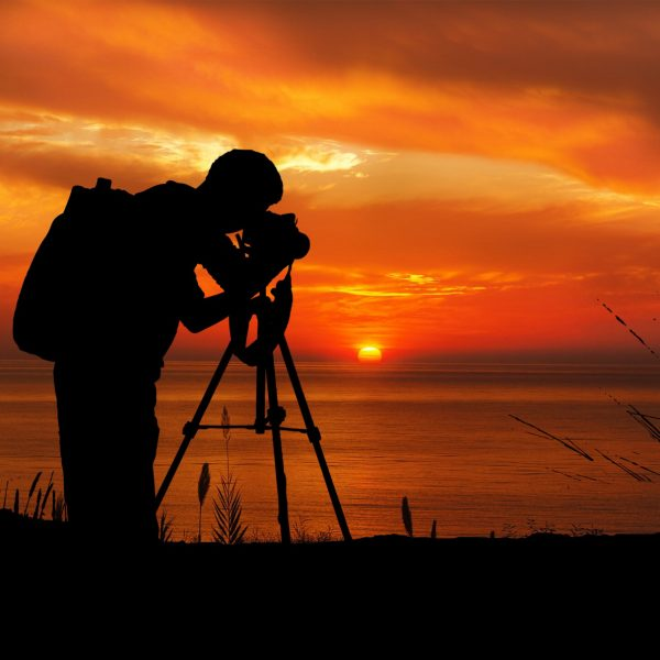 photographer at sunset silhouette 1 1